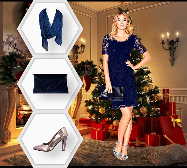 ein eleganter damen weihnachtslook f r die glanzvolle party. Black Bedroom Furniture Sets. Home Design Ideas