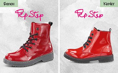 Pep Step, Damen, rot / Pep Step, Kinder, rot