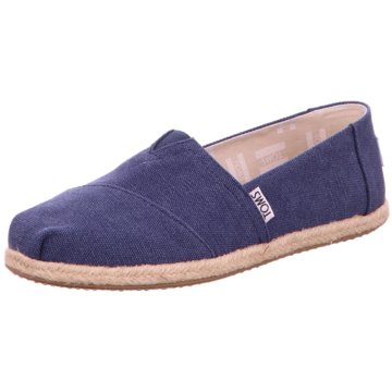 TOMS - NVY WASHED CANVAS -