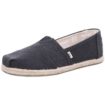 TOMS - BLK WASHED CANVAS WM -
